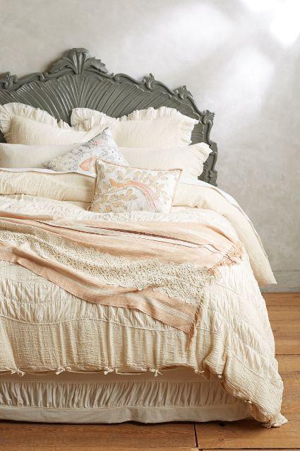 Blue Ruched Comforter