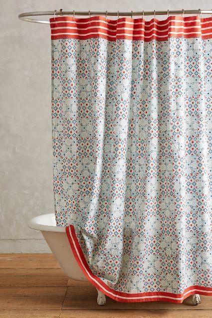 Piastrella Multicolored Shower Curtain