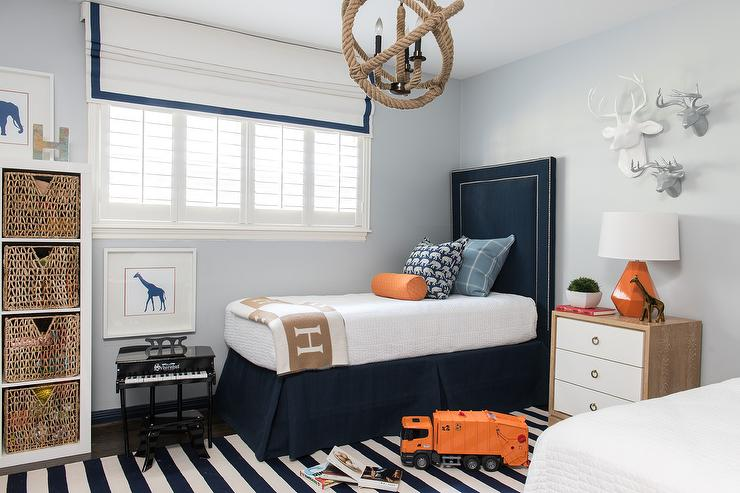 blue and orange kids bedroom contemporary boy\u0027s roomblue and orange kids bedroom