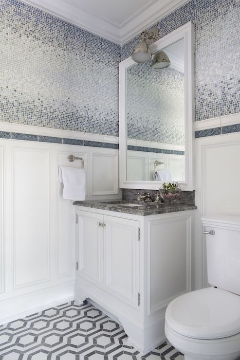 Blue And Gray Tiles Design Decor Photos Pictures