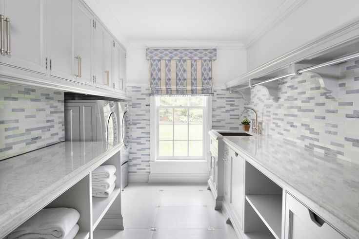 Wonderful Gray Laundry Room Shelves