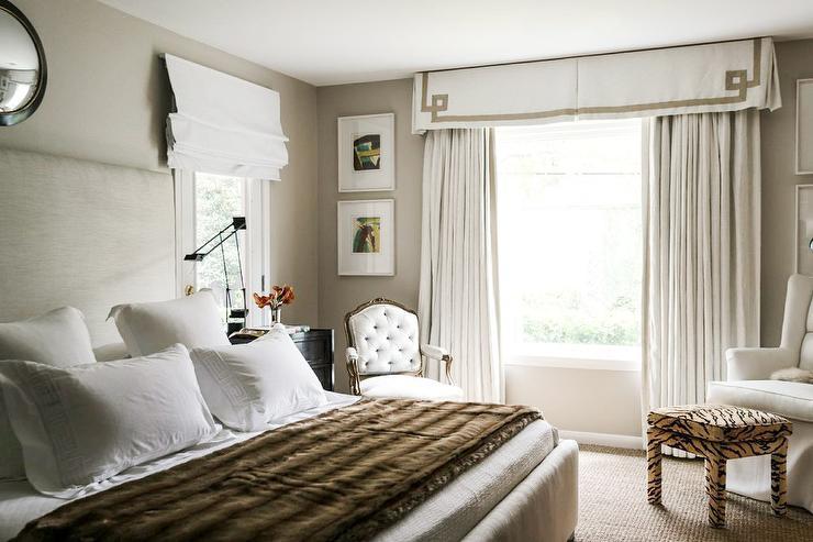 Pink Fur Wallpaper For Bedrooms: Greek Key Valance