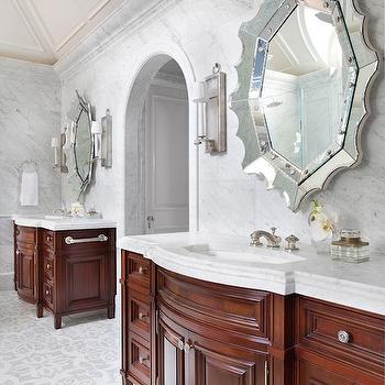 Spider Web Vanity Mirrors, Transitional, Bathroom