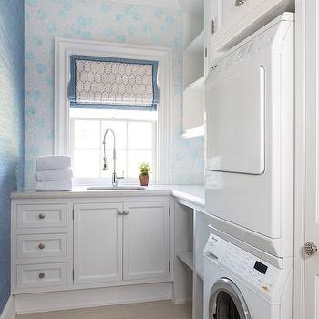 Stacked Washer and Dryer Nook, Transitional, Laundry Room