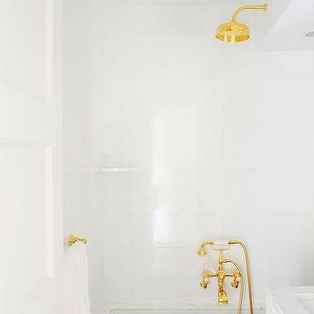 gold rain shower head. White and Gold Bathrooms Faucet Head Design Ideas