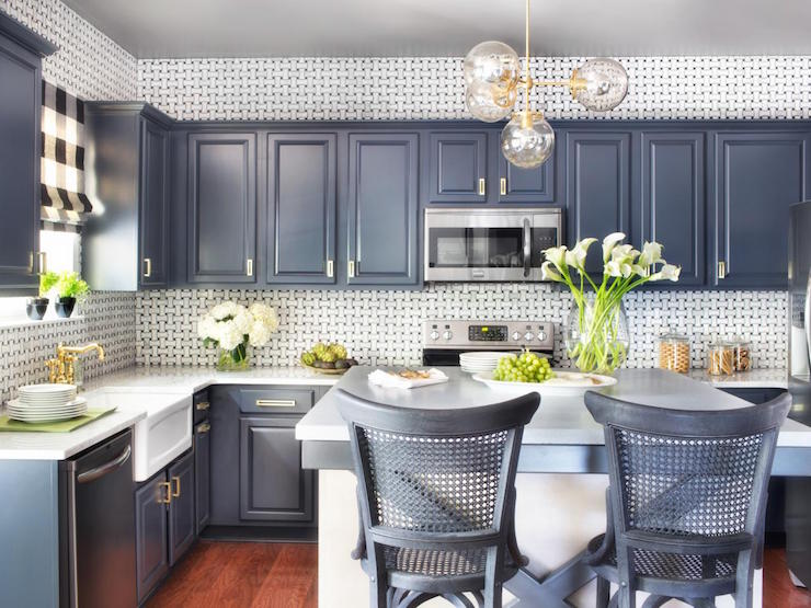 White Basket Weave Kitchen Backsplash Design Ideas