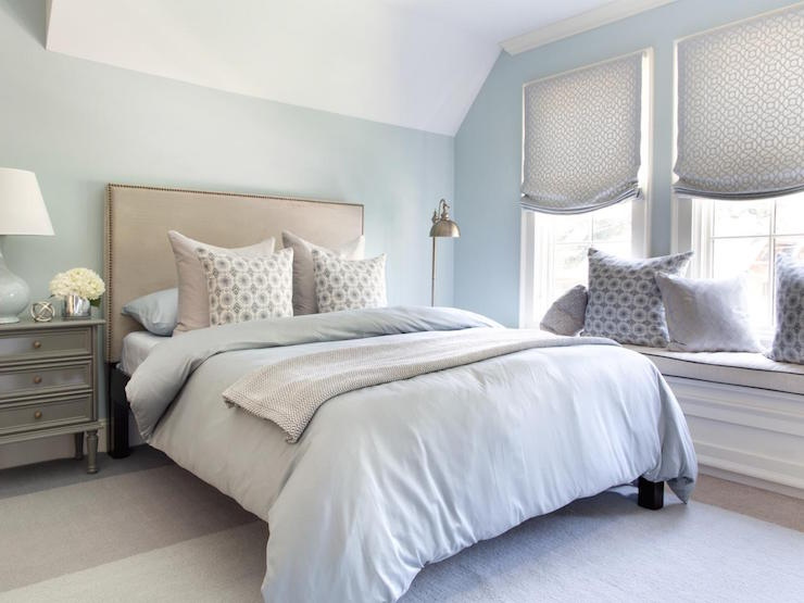 Blue and Gray Bedrooms - Transitional - Bedroom