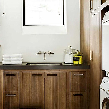 Brown Laundry Room Cabinets, Transitional, Laundry Room
