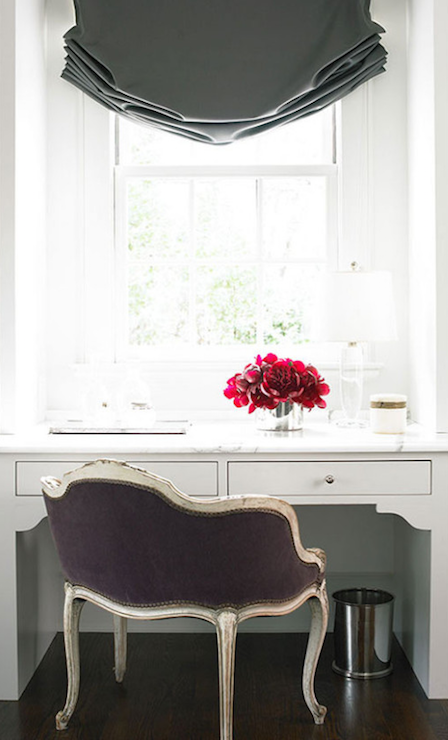 Purple Velvet Vanity Chair - Transitional - Bathroom