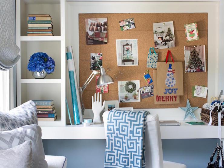 shelving unit on desk   transitional   bedroom