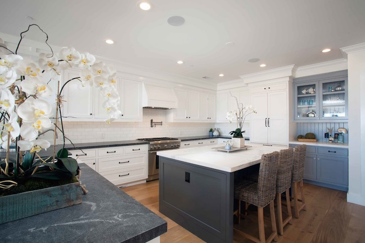 Cottage Kitchen With Soapstone Countertops