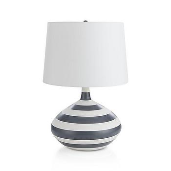 rugby stripe shade mason touch lamp base pottery barn kids. Black Bedroom Furniture Sets. Home Design Ideas