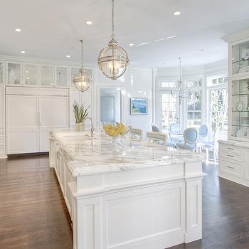 Kitchen with Built In Hutch, Transitional, Kitchen