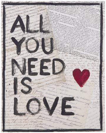 All You Need Is Love Black Wall Art