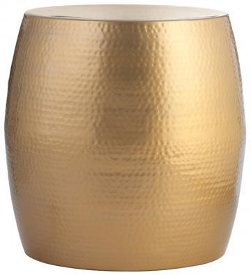 Baylee Gold Aluminum Accent Table