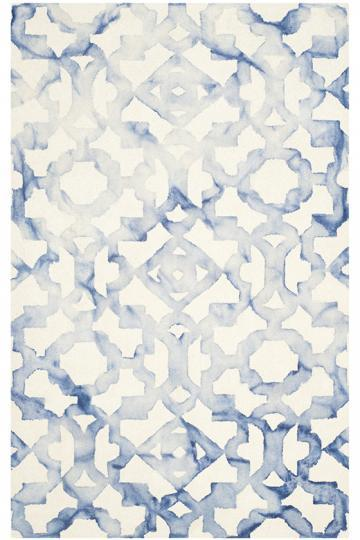 Sharma White And Blue Area Rug