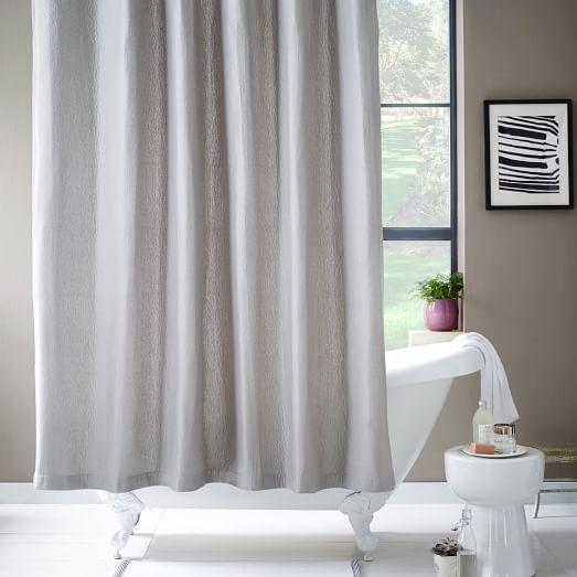Brighton Matelasse Platinum Gray Shower Curtain