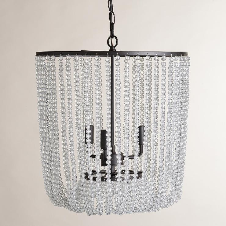 Attractive Arabella Beaded Chandelier - Pottery Barn BQ16