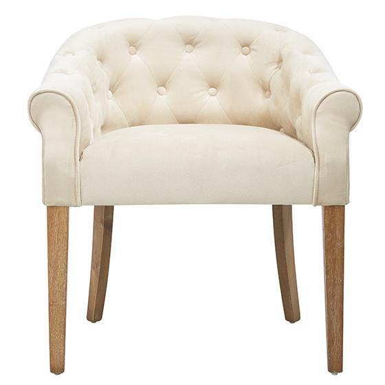 Abbyson Living Napa Cream Fabric Tufted Dining Chair