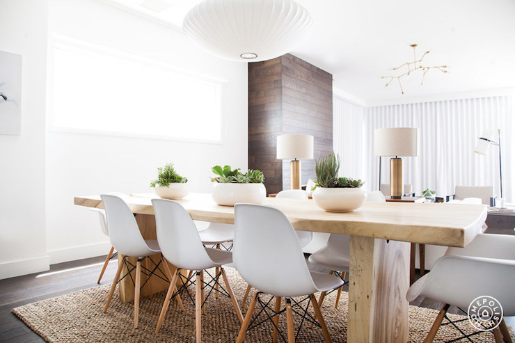Wood Slab Dining Table Modern Dining Room