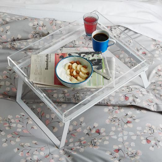 Breakfast Clear Acrylic Tray Stand
