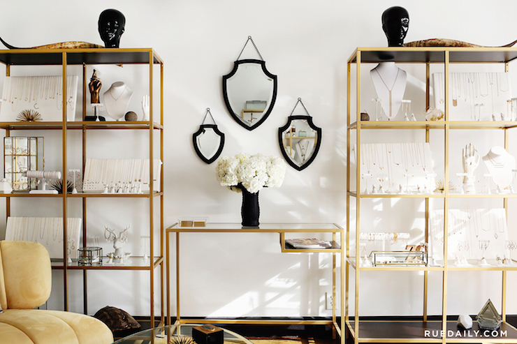 Gold Ikea Shelving Unit