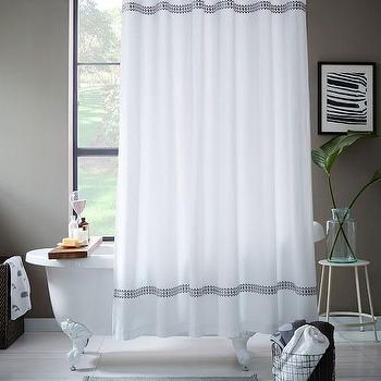 Facet Border Shower Curtain