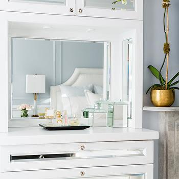 built in mirrored dresser - Cabinet Designs For Bedrooms