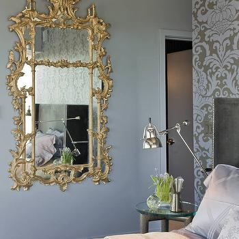 Gray and Blue Bedroom Ideas, Transitional, Bedroom