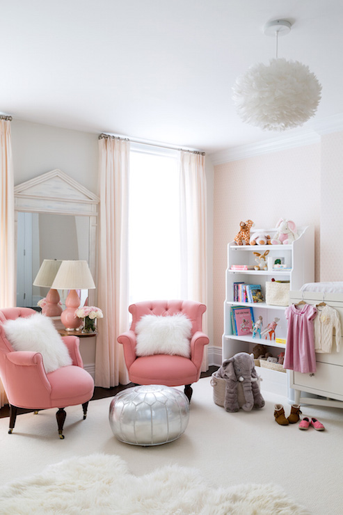 Pink Nursery Ideas Transitional Nursery