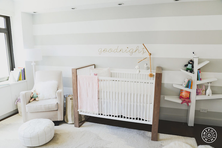 Striped Nursery Contemporary Nursery J And J Design