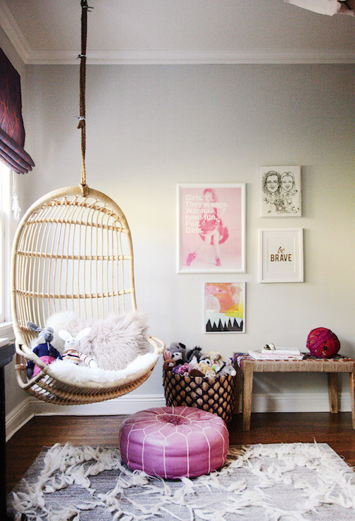 Hanging Chair For Kids Room Contemporary Girl S Room