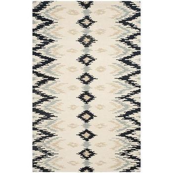 Safavieh Hand-Tufted Soho Ivory Dark Grey Wool Viscose Rug
