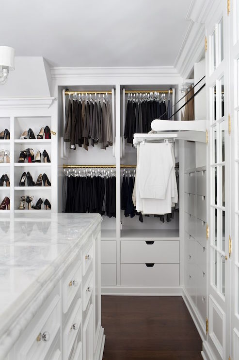 Pull Out Pants Rack Transitional Closet