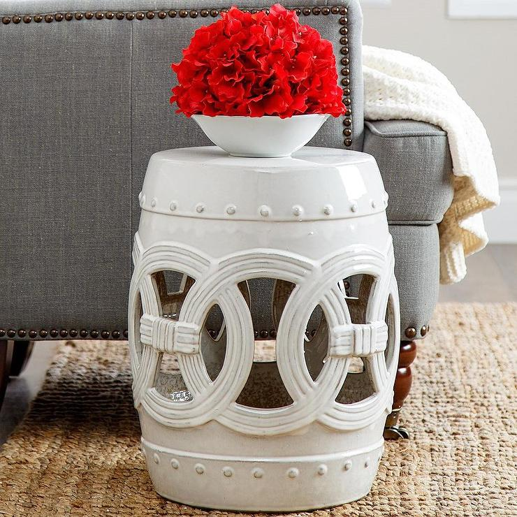 Moroccan Stool White Side Tables Amp Pedestals Wisteria