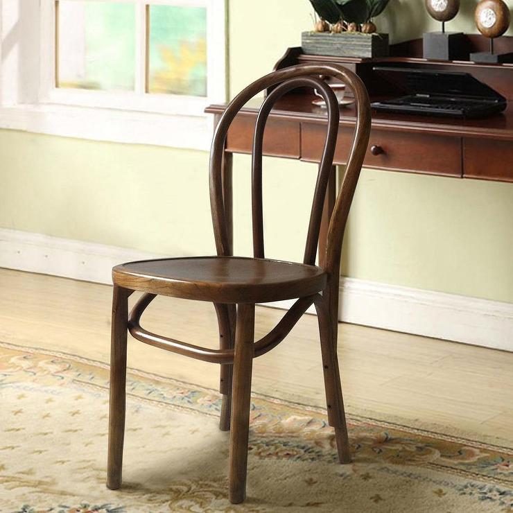 Elm Wood Antique Bistro Brown Dining Chair - Wood Antique Bistro Brown Dining Chair