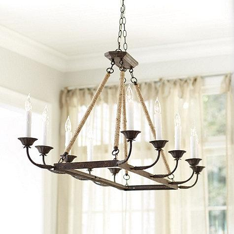 Brown Rectangle Chandelier