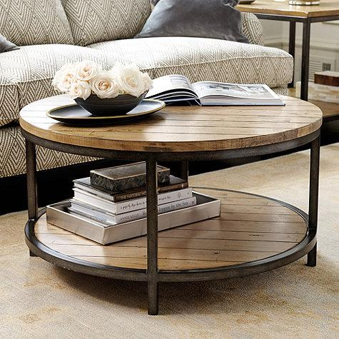Durham Brown Round Coffee Table