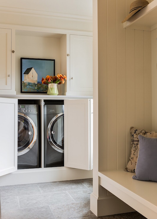Floating Laundry Bench Design Ideas