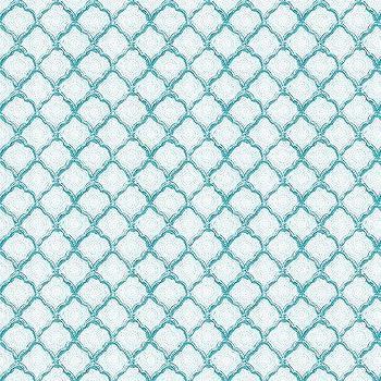 Quinn Scalloped Aqua Fabric