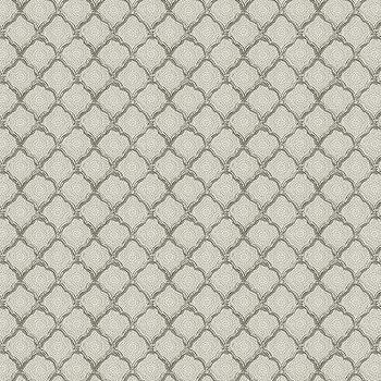 Quinn Scalloped Gray Fabric