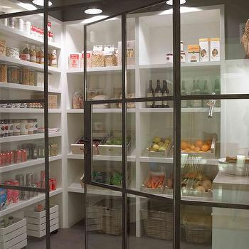 glass pantry doors - Walk In Pantry Design Ideas
