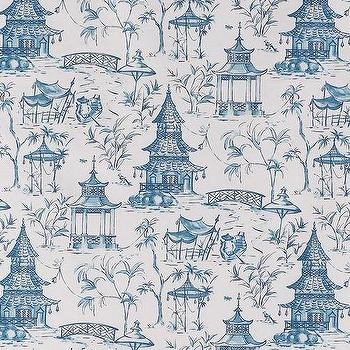 Pagodas Seaside, Printed Fabric
