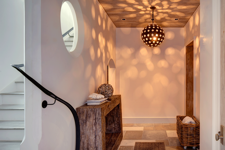 Narrow Foyer Stairs : Narrow staircase with driftwood pendant cottage entrance foyer