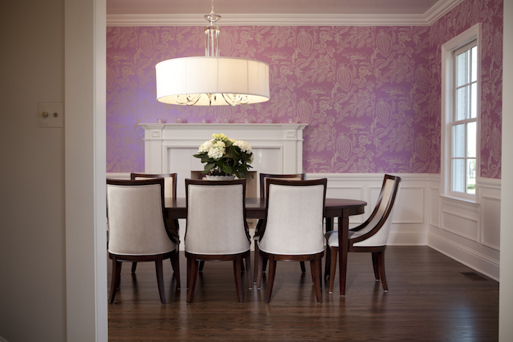 Dining Room Wainscoting Design Ideas : wainscoting in dining room oval dining table large drum chandelier from www.decorpad.com size 740 x 493 jpeg 275kB