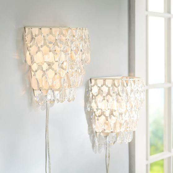 White Crystal Wall Sconces : White Crystal Wall Sconce