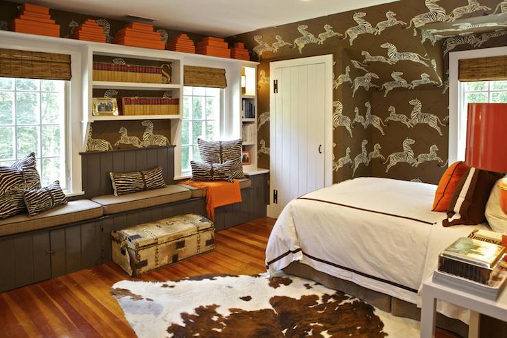 brown and orange kids room - Brown Kids Room Interior