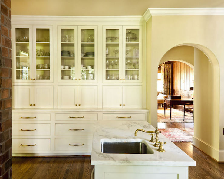 White Kitchen Hutch built in hutch design ideas