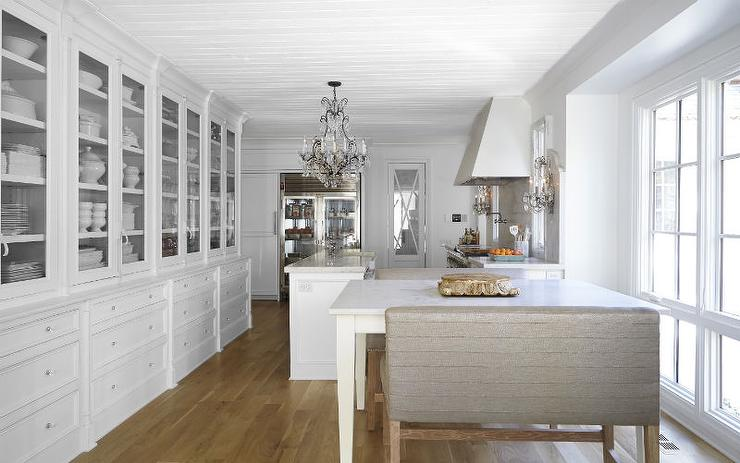 Unique French Kitchen with Built in Hutch - French - Kitchen WJ58