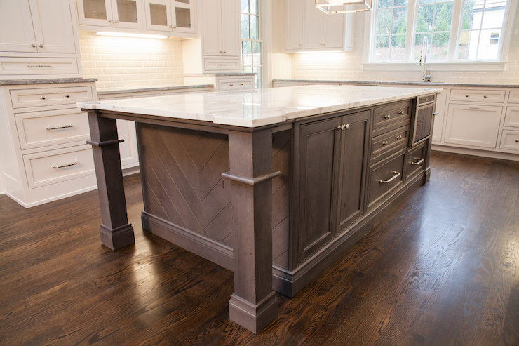 Herringbone Kitchen Island